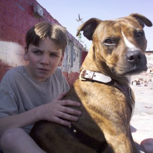 Fraser Kelly as Urban with Max as Tyson the dog