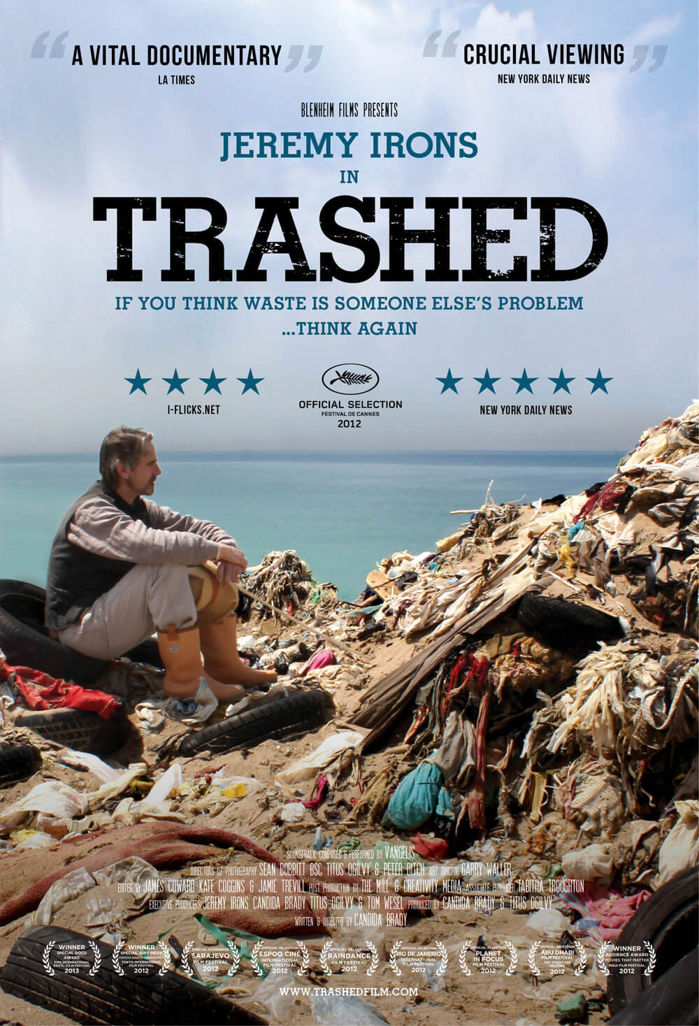 Trashed Environmental documentary with Jeremy Irons Officail Poster